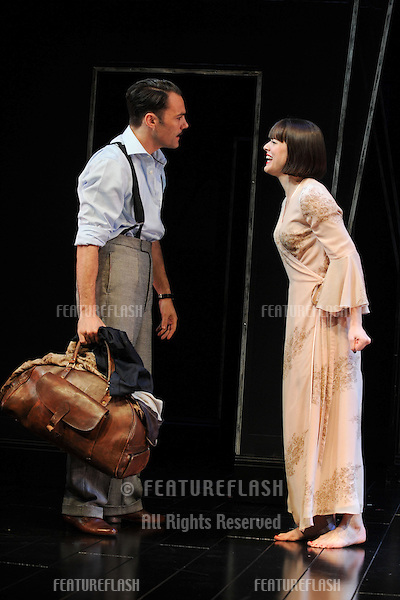 Michelle Ryan as Sally Bowles and Matt Rawle as Clifford Bradshaw in 'Cabaret'  at the Savoy Theatre, London. 08/10/2012 Picture by: Steve Vas / Featureflash