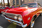 Sept. 15, 2012 - New Hyde Park, New York, U.S. - A red Chevy Chevelle with 427 Turbo-Jet engine is at New York AutoFest at New Hyde Park Car Show and Street Fair.