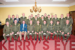 "After 43yrs service with ""C""Company 32nd Battalion,Ballymullen Barracks,Tralee,Company Sargent Rory Costello,Manor,Tralee(seated centre)celebrated his retirement in the Imperial hotel,Tralee last Saturday night along with many colleagues."