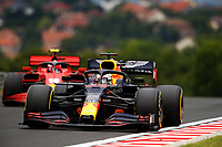 18th July 2020, Hungaroring, Budapest, Hungary; F1 Grand Prix of Hungary,  qualifying sessions;  33 Max Verstappen NLD, Aston Martin Red Bull Racing