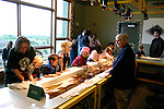Touch tank at Seymour Discovery Center