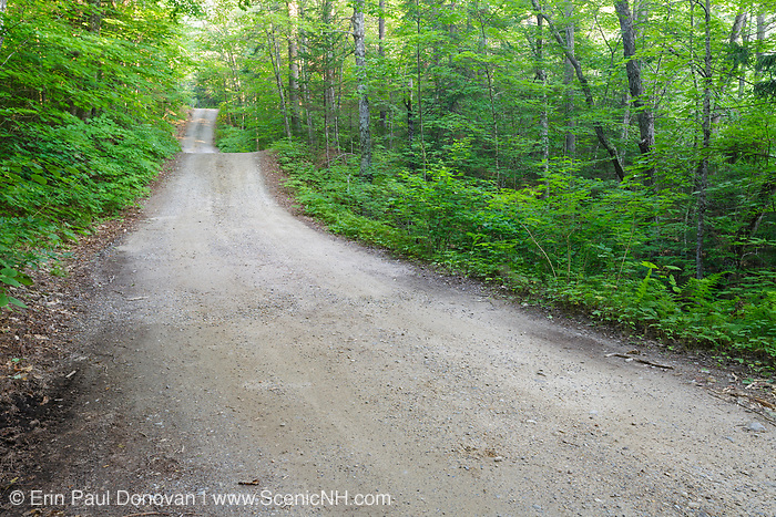 Sandwich Notch Road in Sandwich, New Hampshire USA during the summer months. This historic route was established in 1801
