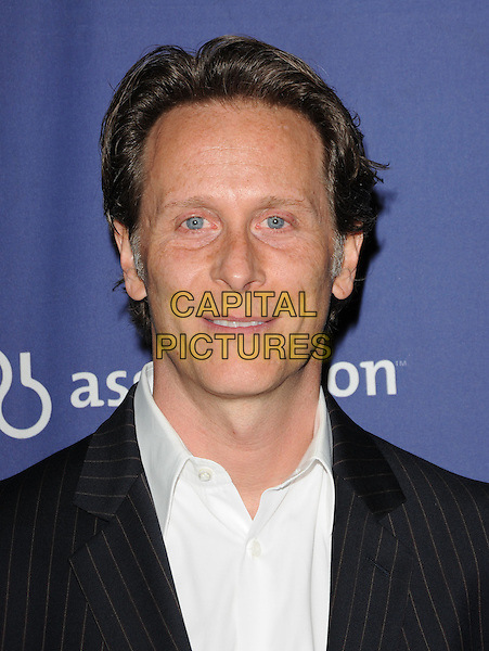 "STEVEN WEBER .at The 18th Annual ""A Night at Sardi's"" Fundraiser & Awards Dinner held at The Beverly Hilton Hotel in The Beverly Hills, California, USA, March 18th 2010..portrait headshot black white shirt                                     .CAP/RKE/DVS.©DVS/RockinExposures/Capital Pictures."