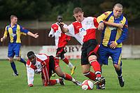 Romford vs Beaconsfield SYCOB - FA Cup Preliminary Round Football at Mill Field, Aveley FC - 29/08/10 - MANDATORY CREDIT: Gavin Ellis/TGSPHOTO - SELF-BILLING APPLIES WHERE APPROPRIATE. NO UNPAID USE. TEL: 0845 094 6026