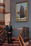 DePaul President A. Gabriel Esteban, Ph.D., is seen in a portrait in the Driehaus College of Business, Monday, Oct. 9, 2017, on the Loop campus. (DePaul University/Jeff Carrion)