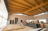 NWA Democrat-Gazette/BEN GOFF @NWABENGOFF<br /> A view inside the new flight center under construction Friday, March, 23, 2018, at Bentonville Municipal Airport.