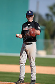 December 28, 2009:  Chad Nack (8) of the Baseball Factory Commodores team during the Pirate City Baseball Camp & Tournament at Pirate City in Bradenton, Florida.  (Copyright Mike Janes Photography)