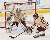 Parker Milner (BC - 35), Quinn Smith (BC - 27) - The Boston College Eagles defeated the visiting University of Vermont Catamounts to sweep their quarterfinal matchup on Saturday, March 16, 2013, at Kelley Rink in Conte Forum in Chestnut Hill, Massachusetts.