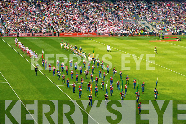 Artane band, Kerry v Tyrone, GAA Football All-Ireland Senior Championship Final, Croke Park, Dublin. 21st  September 2008.    Copyright Kerry's Eye 2008