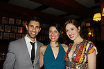 Opening Night of Manipulation and after party at Sardis - Ravi Silver & Michelle Vazquez & Marina Squerciati (was on Guiding Light) pose togther as both of them are in Victoria E. Calderon's play Manipulation on June 28, 2011 at the Cherry Lane Theatre, New York City, New York. (Photo by Sue Coflin/Max Photos)