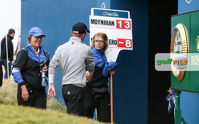 Gavin Moynihan (IRL) walks off proud of a -13 score, during the Final Round of the Dubai Duty Free Irish Open 2017 Hosted by the Rory Foundation, at Portstewart Golf Club, Derry, Northern Ireland.  09/07/2017. Picture: David Lloyd | Golffile.<br /> <br /> Images must display mandatory copyright credit - (Copyright: David Lloyd | Golffile).