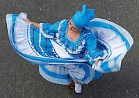 MEDELLIN, COL AUG 07:Dancer take part during the  flower parade 59th in Medellin,  Colombia, on August 7, 2016. (Photo by Fredy Builes / VIEWpress)