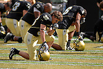 29 September  2007:  Colorado players focus prior to the Buffalos 27-24 upset win over the #3 ranked Oklahoma Sooners at Folsom Field, Boulder, Colorado.