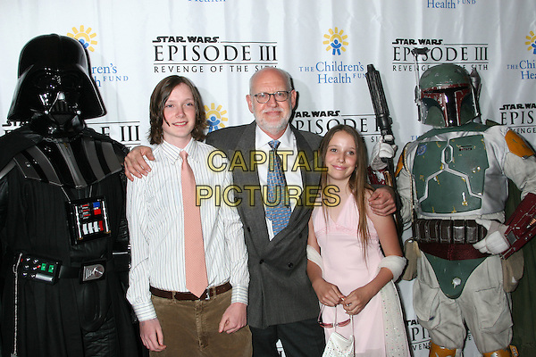"DARTH VADER, FRANK OZ & FAMILY.""Star Wars: Episode III: Revenge Of The Sith"" New York City Benefit Premiere - Inside Arrivals .Ziegfeld Theater, New York City, USA, May 12th 2005..half length costume storm trooper.Ref: IW.www.capitalpictures.com.sales@capitalpictures.com.©Ian Wilson/Capital Pictures."