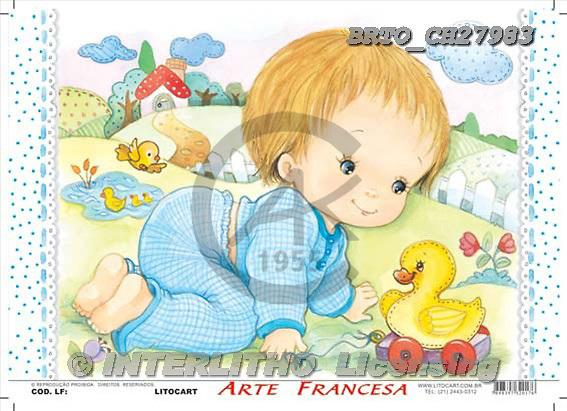 Alfredo, BABIES, paintings, BRTOCH27983,#B# bébé, illustrations, pinturas ,everyday