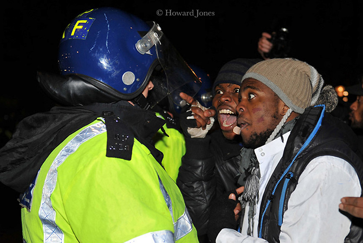 Congolese demonstration in Whitehall against the election of Joseph Kabila as president.London.10/12/2011