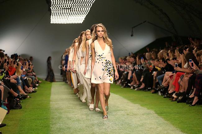 WWW.ACEPIXS.COM<br /> <br /> US Sales Only<br /> <br /> September 15 2013, London<br /> <br /> Cara Delevingne walks at the Topshop Unique Catwalk Show during London Fashion Week SS14 on September 15 2013 in London<br /> <br /> By Line: Famous/ACE Pictures<br /> <br /> <br /> ACE Pictures, Inc.<br /> tel: 646 769 0430<br /> Email: info@acepixs.com<br /> www.acepixs.com