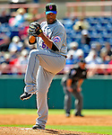 4 March 2009: New York Mets' pitcher Livan Hernandez on the mound during a Spring Training game against the Washington Nationals at Space Coast Stadium in Viera, Florida. The Nationals rallied to defeat the Mets 6-4 . Mandatory Photo Credit: Ed Wolfstein Photo