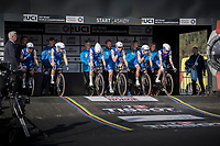 Team Quickstep Floors counting down in the start box<br /> <br /> Men's Team Time Trial<br /> <br /> UCI 2017 Road World Championships - Bergen/Norway