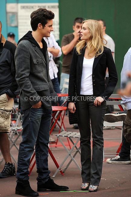 WWW.ACEPIXS.COM . . . . . ....September 14 2009, New York City....Actors Nico Tortorella and Sara Paxton on the set of 'The Beautiful Life' on September 14 2009 in New York City....Please byline: KRISTIN CALLAHAN - ACEPIXS.COM.. . . . . . ..Ace Pictures, Inc:  ..tel: (212) 243 8787 or (646) 769 0430..e-mail: info@acepixs.com..web: http://www.acepixs.com
