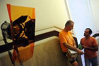 Lavoratori dello spettacolo durante la riprese di Casa Coop.Workers in the entertainment during the filming of House Coop.Gianfranco Strazza. Ispettore di produzione. Production supervisor.Giancarlo Alessandrini. Direttore di produzione. Production Manager...CASA COOP è una sit-com, prodotta dalla Coop, sulla vita quotidiana di persone di varia umanità, ambientata in un condominio. Gli episodi saranno diffusi via internet.HOUSE COOP is a sit-com produced by the Coop, about daily life of people with different  humanity , that live in a condominium. Episodes will be disseminated by Internet. ...