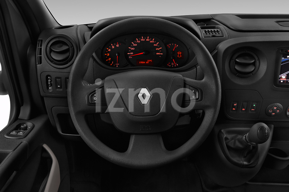 Car pictures of steering wheel view of a 2019 Renault Master Base 4 Door Cargo Van