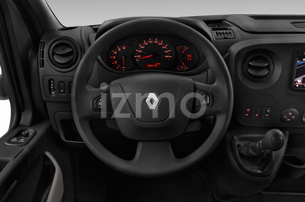 Car pictures of steering wheel view of a 2019 Renault Master Base 4 Door Cargo Van