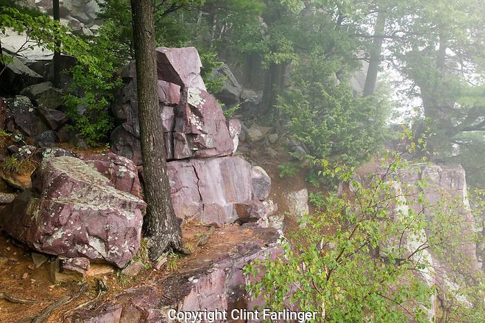 rugged East Bluff, Devil's Lake State Park, Baraboo Hills, Sauk County, Wisconsin