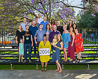 Class of 2004 group photo from Alumni Reunion Weekend on Saturday, June 22, 2019 on the campus of Occidental College.