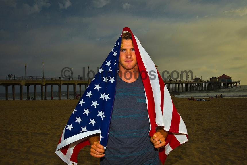 Huntington, California/USA (Monday, September 26, 2011) Local surfer Brett Simpson (USA) photographed at Huntington Beach Pier. –  Photo: joliphotos.com