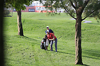 Lucas Bjerregaard (DEN) in the rough on the 1st during Round 3 of the Omega Dubai Desert Classic, Emirates Golf Club, Dubai,  United Arab Emirates. 26/01/2019<br /> Picture: Golffile | Thos Caffrey<br /> <br /> <br /> All photo usage must carry mandatory copyright credit (© Golffile | Thos Caffrey)