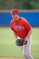 Philadelphia Phillies Greg Pickett (28) during an Instructional League game against the Toronto Blue Jays on October 7, 2017 at the Englebert Complex in Dunedin, Florida.  (Mike Janes/Four Seam Images)
