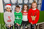 The students of Miss Fuller's class getting ready for the Christmas play in Moyderwell NS on Thursday.<br /> L to r: Ava Sharma, Thomas Brolley, Ellie O'Rahilly and Taylor Stack Shanahan.