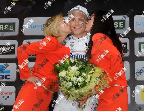 2012-04-04 / Wielrennen / seizoen 2012 / 100 ste Scheldeprijs Schoten / Het podium met Marcel Kittel ..Foto: Mpics.be