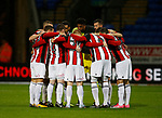 Team Huddle during the Championship match at the Macron Stadium, Bolton. Picture date 12th September 2017. Picture credit should read: Simon Bellis/Sportimage