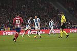 Atletico de Madrid's Angel Martin Correa and RCD Espanyol's Oscar Esau Duarte during La Liga match between Atletico de Madrid and RCD Espanyol at Wanda Metropolitano Stadium in Madrid, Spain. December 22, 2018. (ALTERPHOTOS/A. Perez Meca)