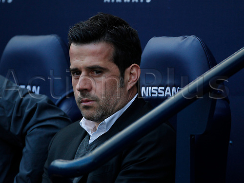 April 8th 2017, Etihad Stadium, Manchester, Lancashire, England; EPL Premier league football, Manchester City versus Hull City; Hull City head coach Marco Silva before the game