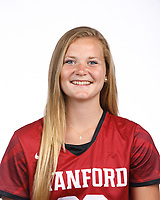 STANFORD, CA - August 16, 2019: Hannah Schofield on Field Hockey Photo Day.