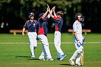 SBHS players celebrates a wicket  during the National Primary School Cup Final between Southland Boys High School v Tauranga Intermediate at the Bert Sutcliffe Oval, Lincoln University, Christchurch, New Zealand. Wednesday 22 November 2017. Photo: John Davidson/www.bwmedia.co.nz