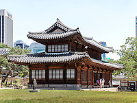 Alte k&ouml;nigliche Halle Seogeodang im Palast Deoksugung in Seoul, S&uuml;dkorea, Asien<br /> Old royal hall Seogeodang in palace Deoksugung, Seoul, South Korea, Asia