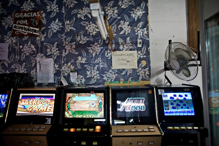 The multipurpose store located next to the bar La Tortuga, among other many services, it offer  in the form of video games and slot machines.