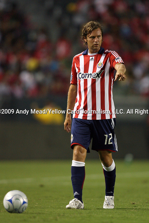 22 August 2009: Chivas USA's Carey Talley. CD Chivas USA played Toronto FC at the Home Depot Center in Carson, California in a regular season Major League Soccer game.