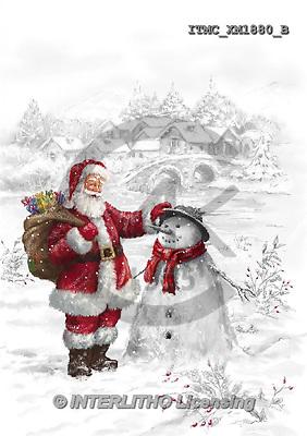 Marcello, CHRISTMAS SANTA, SNOWMAN, WEIHNACHTSMÄNNER, SCHNEEMÄNNER, PAPÁ NOEL, MUÑECOS DE NIEVE, paintings+++++,ITMCXM1880/B,#X#