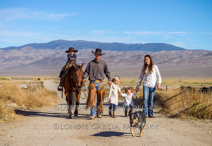 Nick and Jackie Dowers family portrait. Nick is the 2013 National Reined Cow Horse Association Snaffle Bit Futurity Open Champion