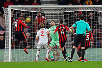 Lys Mousset of AFC Bournemouth right heads the second goal during AFC Bournemouth vs Stoke City, Premier League Football at the Vitality Stadium on 3rd February 2018
