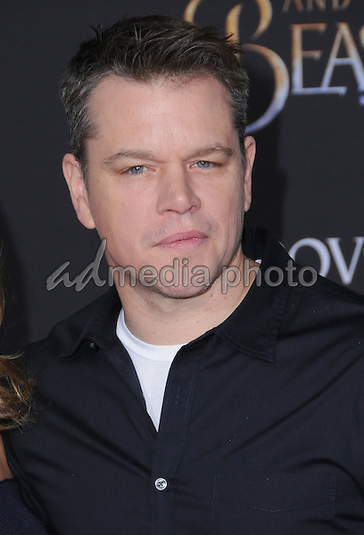 "02 March 2017 - Hollywood, California - Matt Damon. Los Angeles premiere of Disney's ""Beauty and the Beast' held at El Capitan Theatre. Photo Credit: Birdie Thompson/AdMedia"