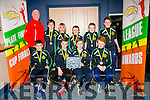 St Brendan's U12's Division 1 Front l-r  Jack Doyle, Cillian Litchfield, Andrew Wallace, Tom Flavin, Coach, Tony Griffin, Cian Griffin, Coren Hughes, Eddie Sheehy, Simon Carey and Dean Farrell. Missing from photo were Jack Doyle and Donal O'Sullivan at the KABB Basketball awards night at the Kingdom Greyhound Stadium on Tuesday