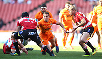 Emiliano Boffelli  of the Jaguares during the Super Rugby quarter-final match between the Emirates Lions and the Jaguares at the Emirates Airlines Park Stadium,Johannesburg, South Africa on Saturday, 21 July 2018. Photo: Steve Haag / stevehaagsports.com