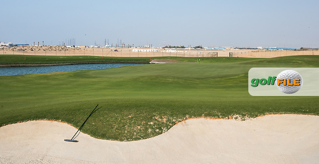 View of the 13th green at Al Zorah Golf Club, Dubai, United Arab Emirates.  26/01/2016. Picture: Golffile | David Lloyd<br /> <br /> All photos usage must carry mandatory copyright credit (&copy; Golffile | David Lloyd)