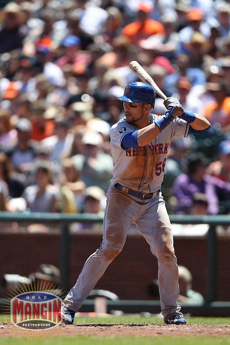SAN FRANCISCO, CA - AUGUST 2:  Andres Torres #56 of the New York Mets bats against the San Francisco Giants during the game at AT&T Park on Thursday, August 2, 2012 in San Francisco, California. Photo by Brad Mangin